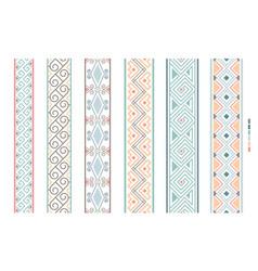 geometrical filigree borders color beauty vector image