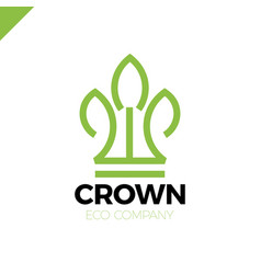 green leaves crown abstract logo design template vector image