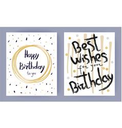 Happy birthday best wishes vector