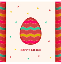 Happy Easter card design element vector image