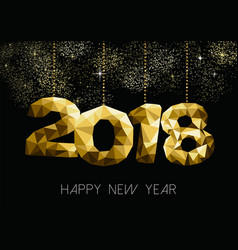 happy new year 2018 gold night party greeting card vector image