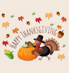 happy thanksgiving concept card vector image