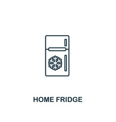 home fridge icon thin style design from household vector image