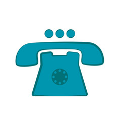 isolated telephone icon vector image