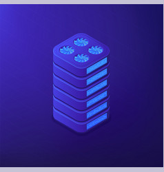 isometric data storage concept vector image