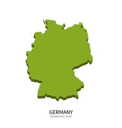 Isometric map of Germany detailed vector