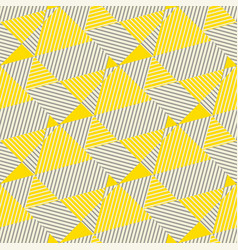 lines and triangles geometric seamless pattern vector image