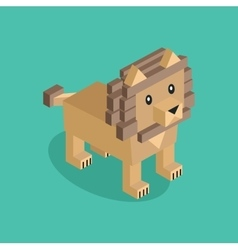Lion is Brown vector