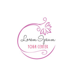 Lotus flower yoga beauty center logo vector