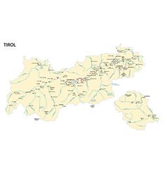 Map austrian state tyrol vector