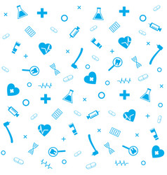 medical symbol dental pharmacy seamless pattern vector image