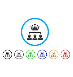Monarchy structure rounded icon vector