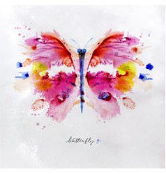 monotype vivid butterfly vector image