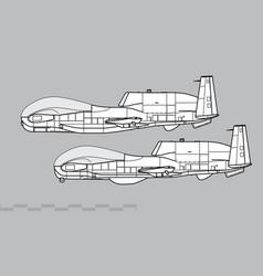 Northrop grumman rq-4 global hawk vector