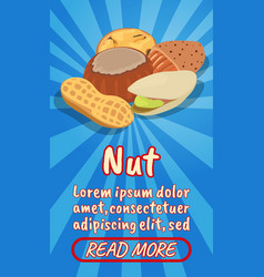 nut concept banner comics isometric style vector image