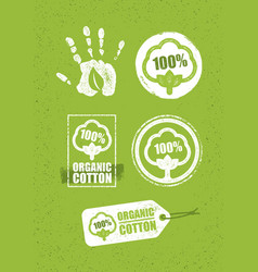 organic cotton creative concept on grunge rust vector image