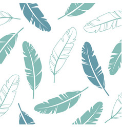 pastel colours feathers seamless pattern vector image