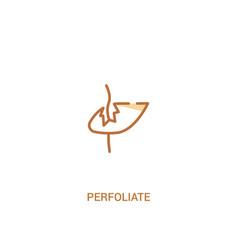 Perfoliate concept 2 colored icon simple line vector