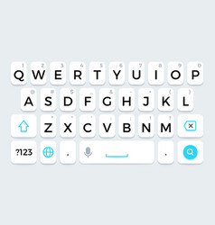 Phone keyboard cellphone keypad with letters and vector