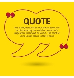 Quotation Bubble Web banner template vector