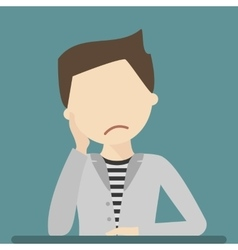 Sad Young Man vector image