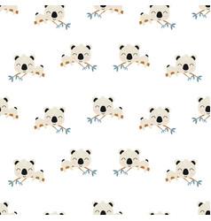 seamless pattern with cute koala baanimals vector image