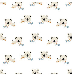 seamless pattern with cute koala baby animals vector image
