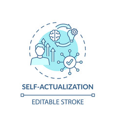 Self actualization turquoise concept icon vector