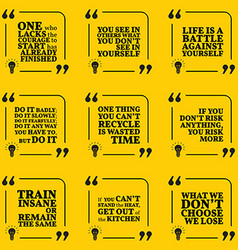 Set of motivational quotes about courage vector