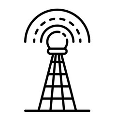 signal tower icon outline style vector image
