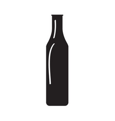 silhouette of a beer bottle vector image