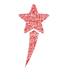 Starting star fabric textured icon vector