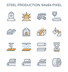 Steel production icon vector