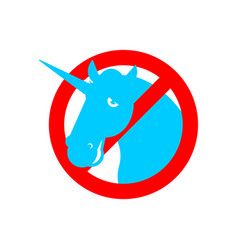 stop unicorn ban lgbt red road sign prohibited gay vector image