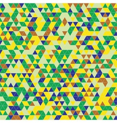Triangles background green yellow vector