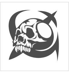 Uni soviet star and ussr skull vector