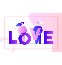 valentines day romantic people couple vector image