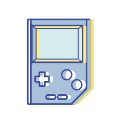 Videogame console toplay and enjoy vector