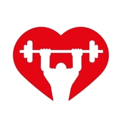 Weight lifting icon Bodybuilding design vector image