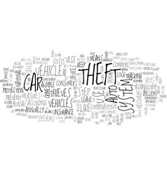 What you can do to prevent auto theft text word vector