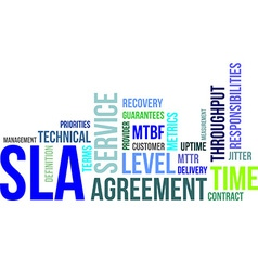 word cloud sla vector image