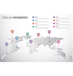 world map infographic symbol vector image