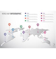World map infographic symbol vector