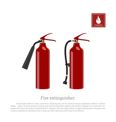 fire extinguisher on a white background vector image vector image