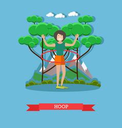 Hula hoop in flat style vector