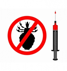 lice and innoculation icon vector image vector image