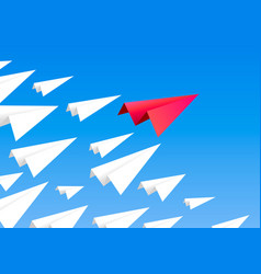 red paper airplane as a leader vector image
