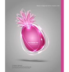 abstract banner in the form of an pineapple vector image vector image