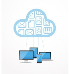 Modern cloud technology computer network vector image vector image