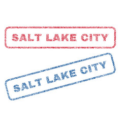 salt lake city textile stamps vector image